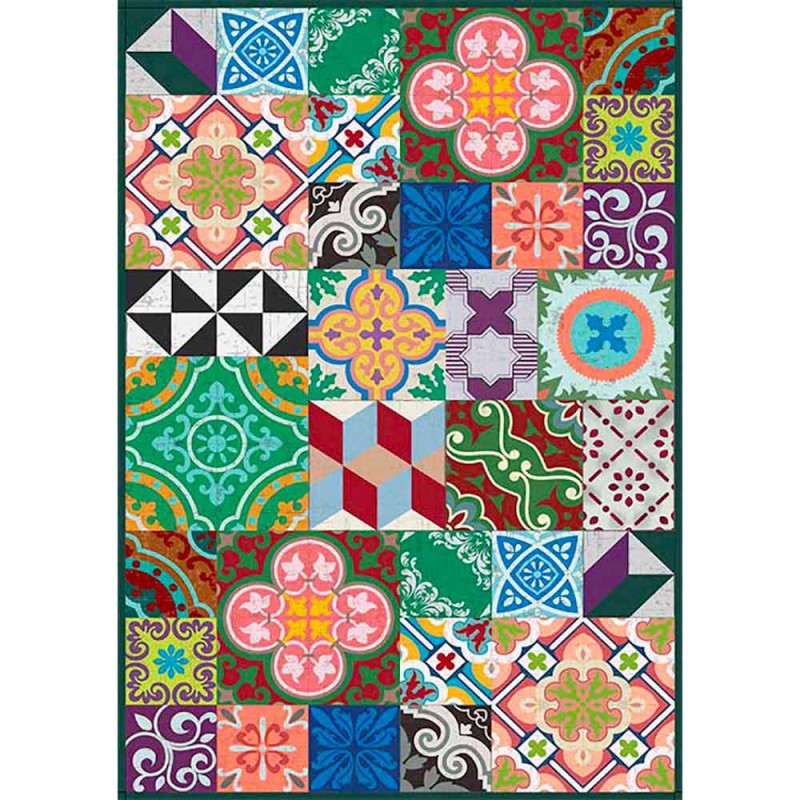 Colorful Design Table Runner in Pvc and Polyester with Fantasy - Timio