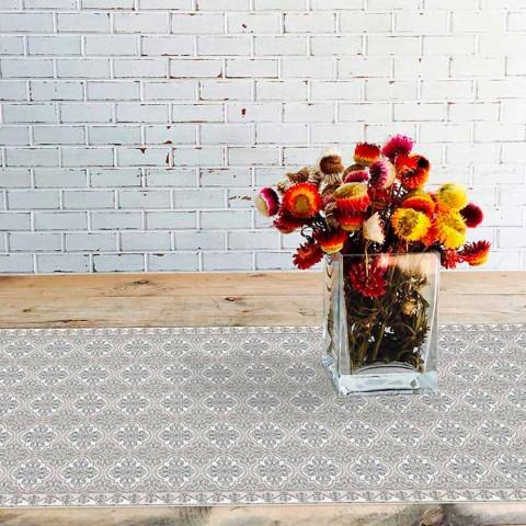 Modern Table Runner in PVC and Rectangular Polyester - Costa