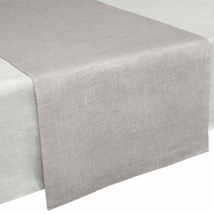 Table Runner in Pure Natural Linen 50x150 cm Made in Italy - Poppy