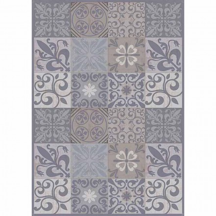 Modern Gray or Black Patterned Table Runner in PVC and Polyester - Pita