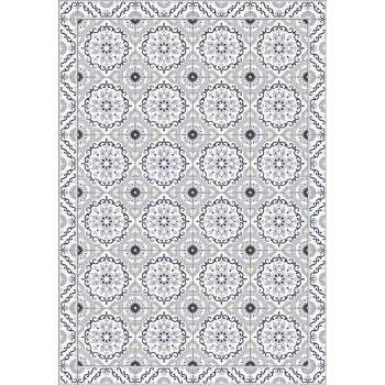 Colored Design Table Runner in Pvc and Polyester with Fantasy - Meriva