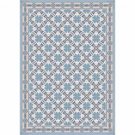 Patterned Design Table Runner with Red or Modern Blue Base - Petunia