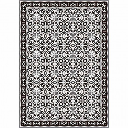 Table Runner in Pvc and Polyester in Black, Blue or Gray Design - Lindia