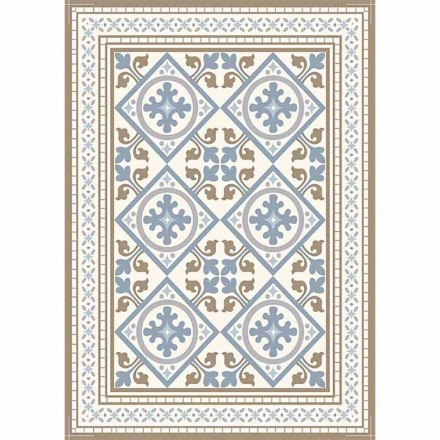 Modern Patterned Table Runner in Pvc and Polyester - Leno
