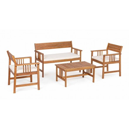 Living room 4 Accessories in Garden Wood Design in Acacia Wood- Roxen
