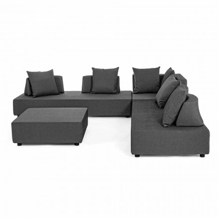 Modern Design Corner Outdoor Lounge in Homemotion Fabric - Benito