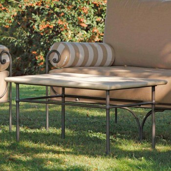 Artisan Garden Lounge with Iron Structure Made in Italy - Lisotto