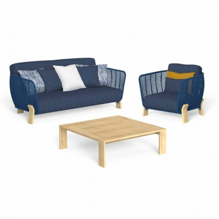 Garden Lounge with Sofa, Armchair and Luxury Coffee Table - Argo by Talenti