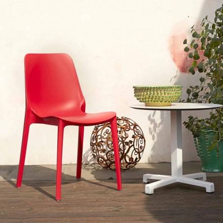 Scab Design Ginevra set of 6 technopolymer chairs with fibreglass