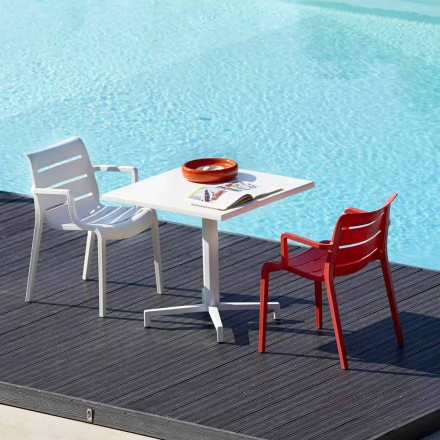 Scab Design Sunset set of 4 indoor/outdoor technopolymer chairs