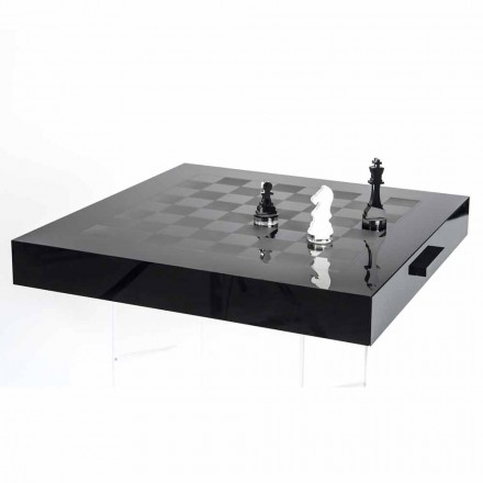 Chessboard for Chess and Design Checkers in Plexiglass Made in Italy - Chess