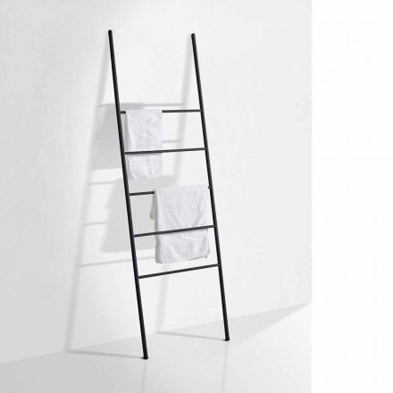 Modern Design Towel Ladder in White or Black Metal - Oppalà