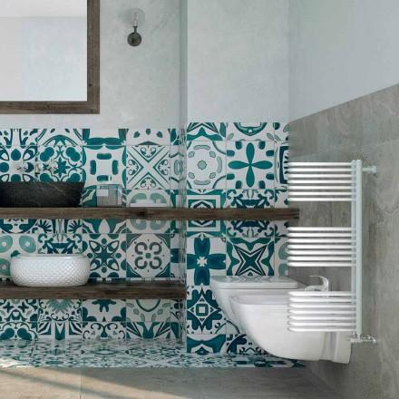 White hot water towel warmer, modern design, Corner by Scirocco H
