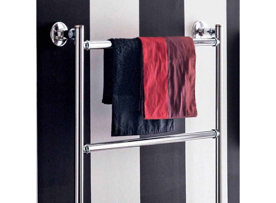 Contemporary chrome plated electric towel rail Gaia by Scirocco H