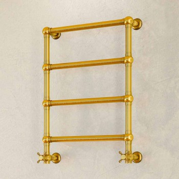 Electric towel warmer Scirocco H Caterina gold in brass made in Italy