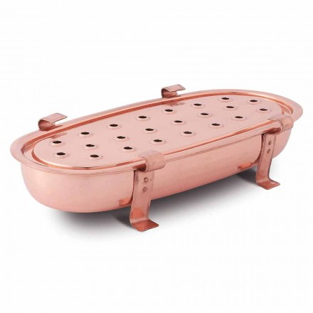 Table Chafing Dish for Copper Pots Made in Italy 45x23 cm - Mariaelena