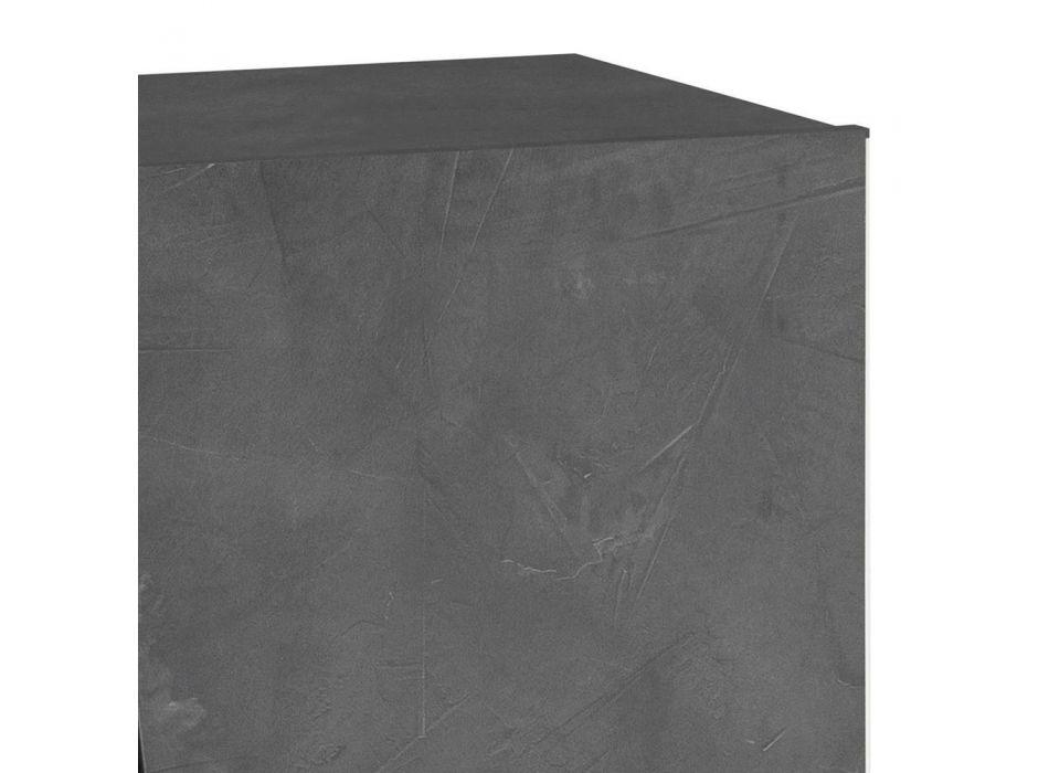 2-Door Shoe Cabinet in Sustainable White or Slate Melamine Wood - Joris