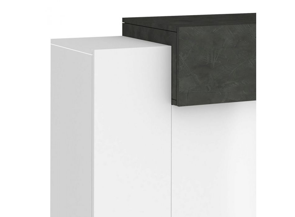 3-Door Entrance Shoe Rack in White Wood and Slate or Maple - Therresse