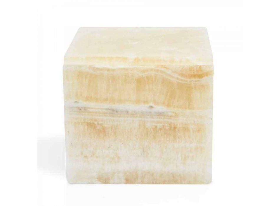 Box with Lid in Portoro Marble Design Square Italian - Maelissa