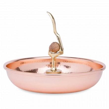 Nutcracker Tray in Tinned Copper Hand Crafted Design 24 cm - Paronzo