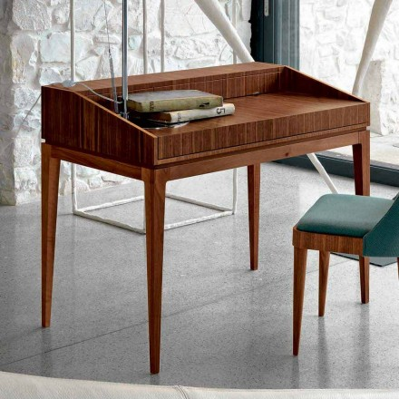 Modern design writing desk Acario in walnut wood, L 105 x W 65 cm