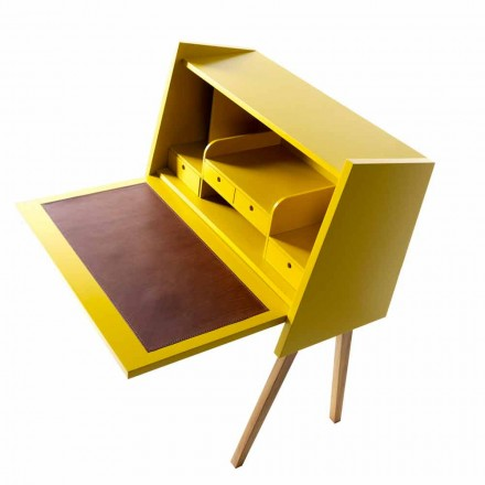 Modern design writing desk in plywood Grilli Hemingway made Italy
