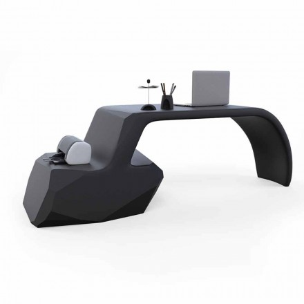 Contemporary design office desk Gush, made in Italy, made of Solid Surface