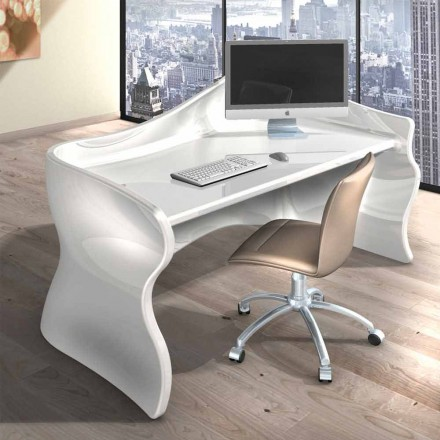 Modern office desk made of Solid Surface Velo, Italian design