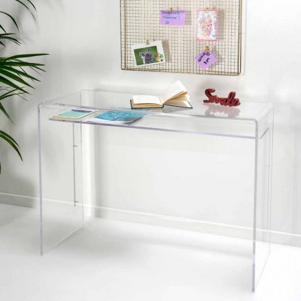 Modern desk in transparent plexiglass produced in Italy, Barga