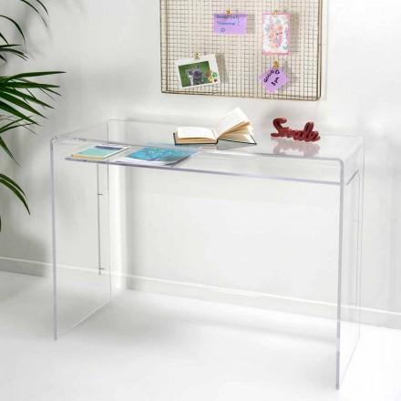 Modern desk in transparent plexiglass produced in Italy, Barga