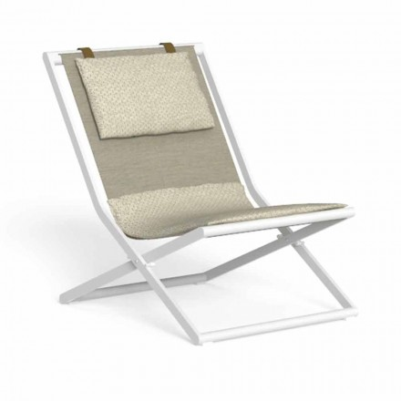 Garden Lounger in Aluminum and Fabric with Cushions - Riviera by Talenti