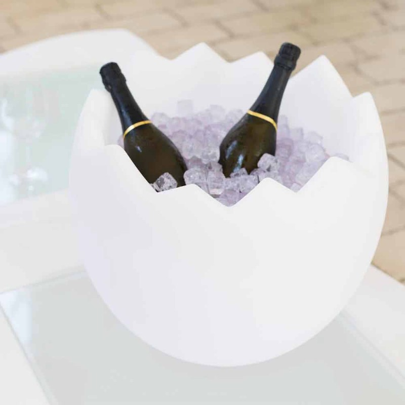 Ice bucket Kalimera Slide white bright made in Italy