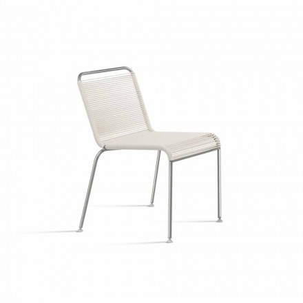 White Design Outdoor Chair in Steel and PVC Made in Italy - Madagascar