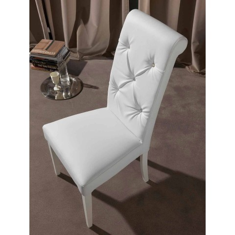 Classic Chair with Capitonnè Manufacturing, with Brillanti - Diana