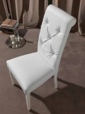 Classic Chair with Capitonnè Pattern, with Diamonds - Diana
