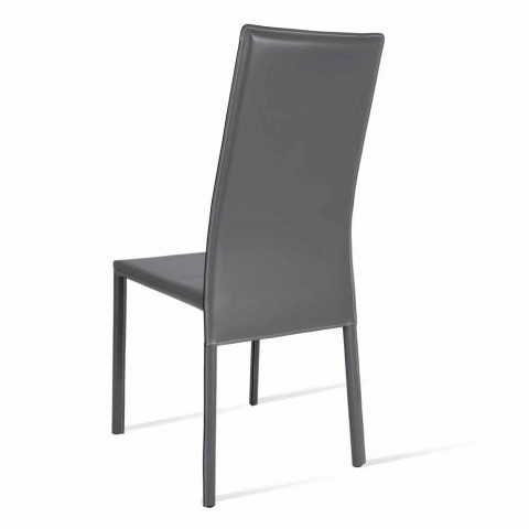 Becca modern design high-back chair, made in Italy
