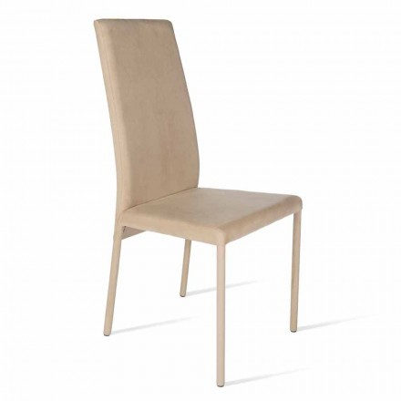 Chair made with high back, modern design, Becca, made in Italy