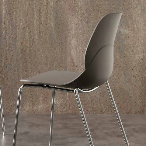 Chair with chromed frame and Licata polypropylene shell