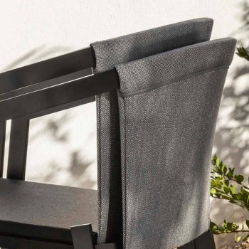 Outdoor Chair with or without Cushion, Aluminum Design 3 Finishes - Filomena