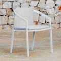 Aluminum Outdoor Chair with or Without Cushion, High Quality, 4 pcs - Filomena