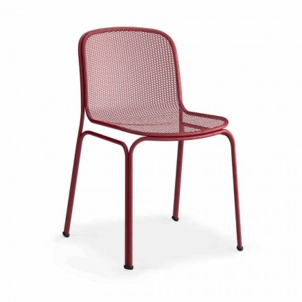 Outdoor Stackable Metal Chair Made in Italy, 4 Pieces - Prunella