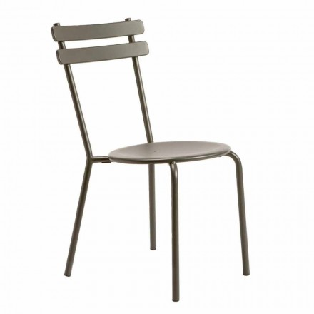 Modern Stackable Outdoor Chair Made in Italy, 4 Pieces - Sallie