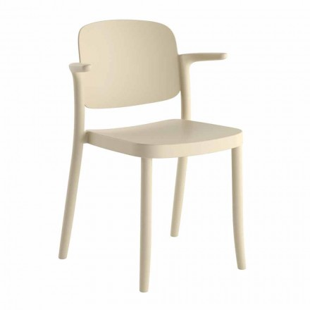 Stackable Outdoor Chair in Polypropylene Made in Italy, 4 Pieces - Bertina