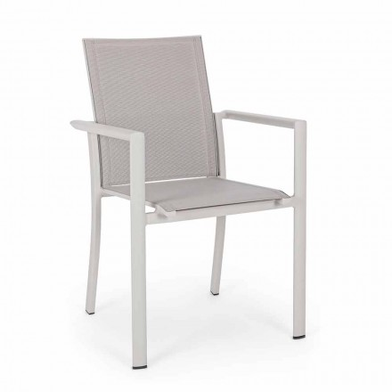 Outdoor Chair in Aluminum with Armrests of Homemotion - Casper Design