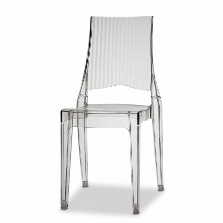 Outdoor Chair in Polycarbonate Made in Italy, 4 Pieces - Scab Design Glenda