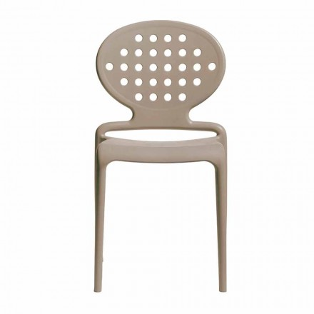 Modern Stackable Outdoor Chair Made in Italy, 6 Pieces - Scab Design Colette