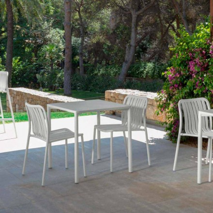 Trocadero modern outdoor stackable chair by Talenti,made with aluminum