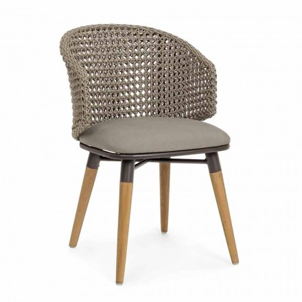 Tortora Outdoor Chair in Wood, Aluminum and Homemotion Fabric - Luana