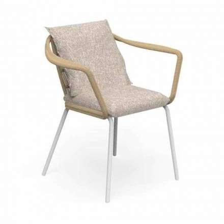Modern Design Garden Chair in Aluminum and Fabric - Cruise Alu Talenti