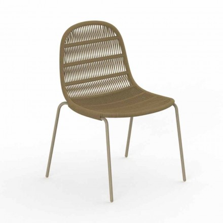 Modern Design Garden Chair in Aluminum and Fabric - Panama by Talenti